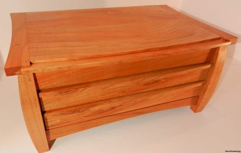 3 Drawer Jewelry Box